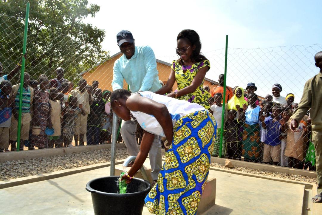 C'est grâce au partenariat Pam-Educo que l'école primaire de Kparo a accès à l'eau